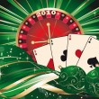 Royalty-Free Stock Векторное изображение: Casino Christmas. Vector
