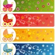 Royalty-Free Stock Vector Image: Baby banner, vector