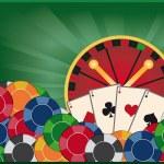 Casino banner with poker card, vector — Stock Vector