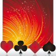 Poker casino card, vector — Stock Vector