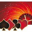 Casino banner with roulette, vector — Stock Vector