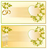 Set Wedding greeting card, vector — Stock Vector
