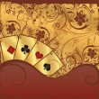 Royalty-Free Stock Vektorfiler: Gambling poker illustration, vector