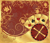 Casino gold wallpaper, vector — Stock Vector