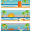Travel summer banners, vector — Stock Vector