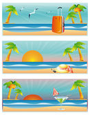 Travel summer banners, vector — Stok Vektör