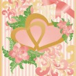 Wedding love card, vector — Vector de stock