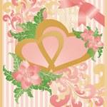 Wedding love card, vector — Stock Vector
