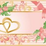 cartão de amor do casamento, vetor — Vetorial Stock