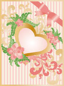 Wedding greeting card, vector — Stock Vector