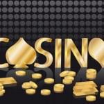 Gold casino card, vector — Stock Vector