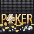 Diamond gold poker, vector — Stock Vector