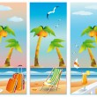 Stock Vector: Summer travel banners, vector