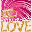 Wedding love card, vector — Imagen vectorial