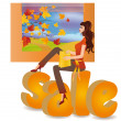 Sale seasons - autumn, vector - Stock Vector