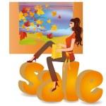 Sale seasons - autumn, vector — Stock Vector
