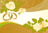 Love wedding card, vector — Stock Vector
