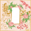 Royalty-Free Stock Vector Image: Greeting love card with frame photo. vector