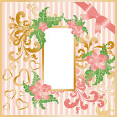 Greeting love card with frame photo. vector — Stock Vector