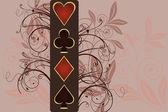Gambling poker illustration, vector — Stock Vector