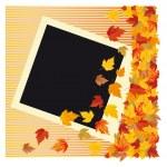 Autumn photo frame, vector illustration — Stock Vector