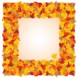 Autumn frame, vector — Stock Vector