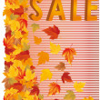 Autumn sale in 3D image, vector — Stock Vector