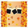 Autumn background with frame photo, vector — Stock Vector