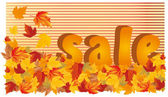 Autumn sale 3D image, vector illustration — Stock Vector