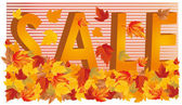 Wallpaper autumn sale in 3d image, vector — Stock Vector