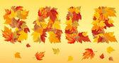 Autumn sale. vector — Stock Vector