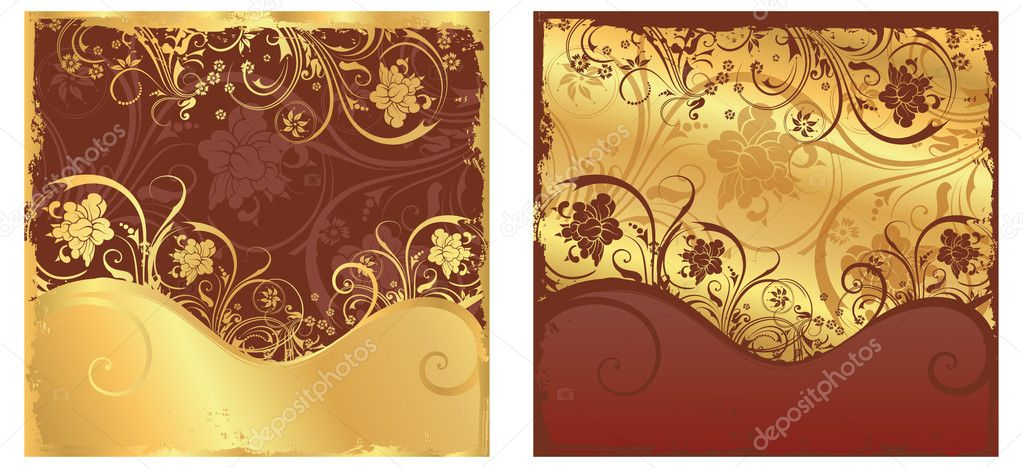 Set floral banners, vector — Stock Vector #3588243