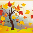 Royalty-Free Stock Vector Image: Autumn  maple tree. vector illustration