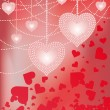 Wedding Love card with precious hearts and pearls , vector — Image vectorielle