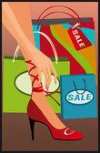 Cartão de compras, vector — Vetorial Stock