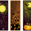Vector banner on a Halloween theme - Stok Vektr