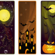 Vector banner on a Halloween theme - 图库矢量图片