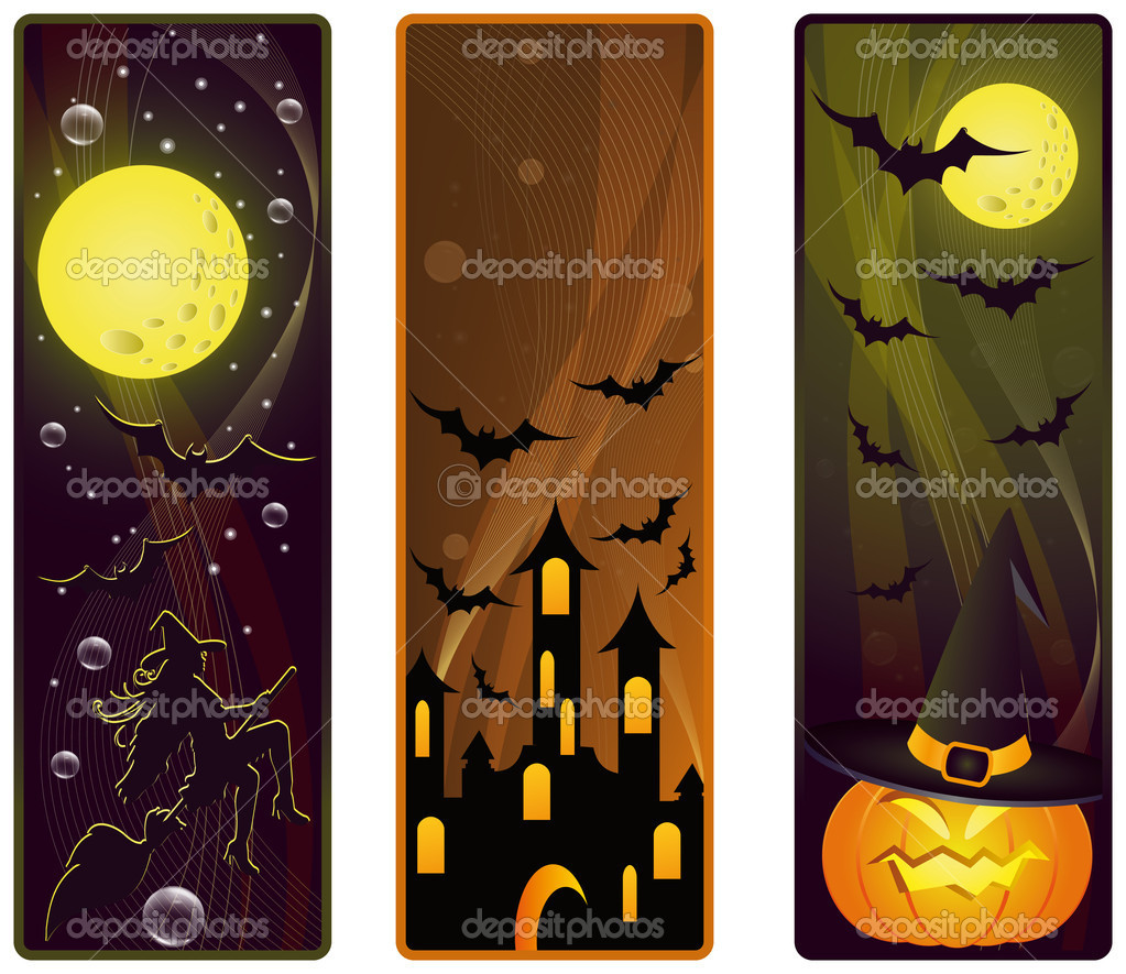 Vector banners on a Halloween theme — ベクター素材ストック #3835858