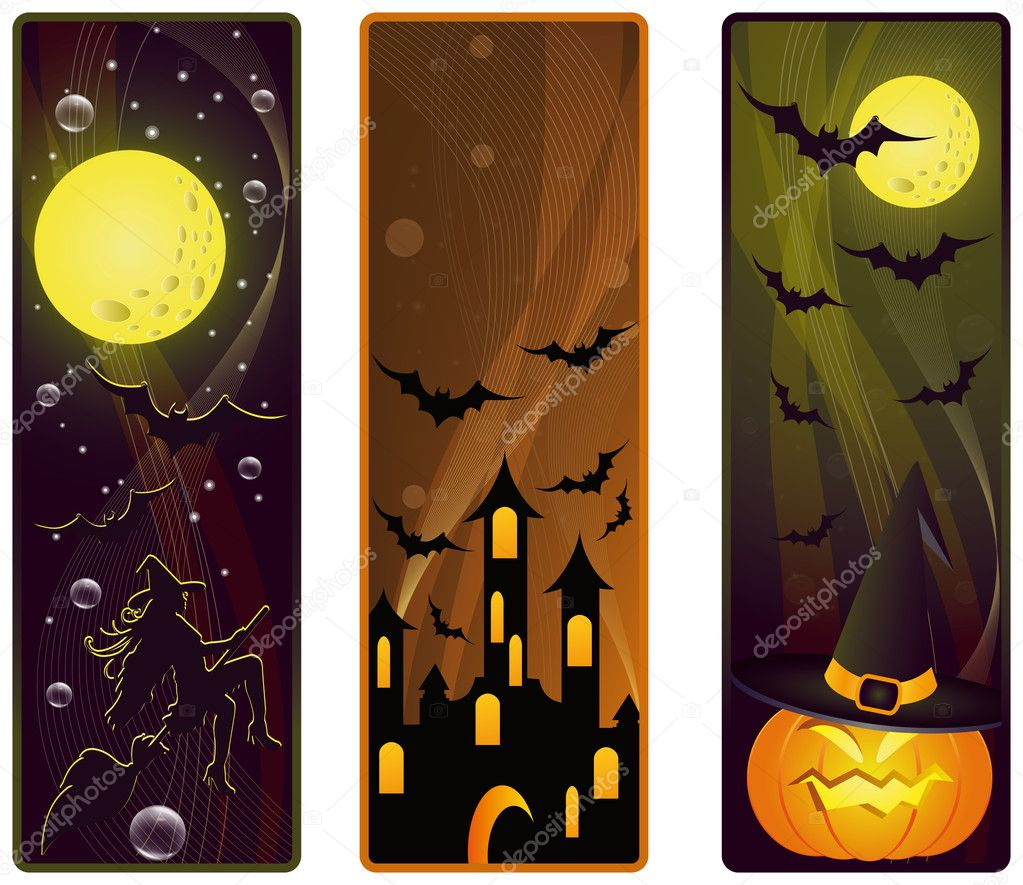 Vector banners on a Halloween theme — Stock Vector #3835858