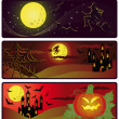 Halloween banners. vector - Stockvektor