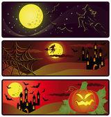 Bannières d'halloween. vector — Vecteur