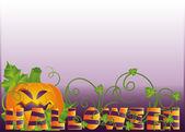 Banner de halloween, vector — Vector de stock