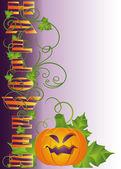 Tarjeta de halloween, vector — Vector de stock
