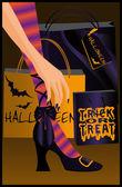 Halloween shopping. vector — Stock Vector