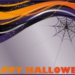 Halloween card with spider web. vector - Stock Vector