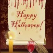 Happy Halloween card, vector illustration - Imagen vectorial
