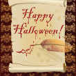Happy Halloween bloody card, vector - Imagen vectorial
