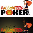 Halloween poker card, vector illustration — Stock Vector #3897973