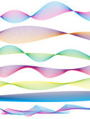 Wave form pattern — Stock Vector