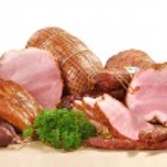 Bacon and pork ham allsorts — Stock Photo
